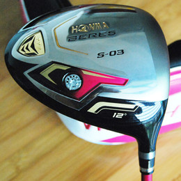 Wholesale women s golf clubs - New woman Golf Clubs Honma BERES S-03 Golf driver Clubs 12 degree graphite Golf shafts Clubs L Flex and driver headcover Free shipping