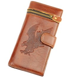 Wholesale Ship Pursed Brand Name - Wholesale-Free Shipping Wholesale Long Men's Wallet Brand Name Genuine Leather Wallet for Men , Gentleman Leather Purses Hot Fashion