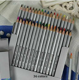 Wholesale Sketch Painting - Freeshipping 36pcs Color Pencil lapis de cor Professional Non-toxic Lead-free Sketch Drawing Colored Pencil School Supplies Painting Pencils