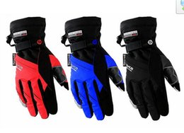 Wholesale Scoyco Gloves Waterproof - Genuine SCOYCO MC18 reflection motorcycle gloves \ waterproof gloves \ warm gloves \ touch gloves Have blue and red colors size L XL XXL