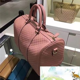 Wholesale Interior Design Pink - Woman man genuine real leather boston italy bag famous design luxury handbag class AAA quality free shipping