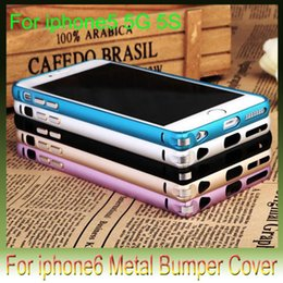 Wholesale Aluminium For Iphone 5g - Hippocampus bukle metal Arc bumper Alloy shell for iphone6 4.7 5.5 inch iphone 6 plus 5S 5G Aluminium business slim frame