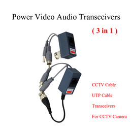 Wholesale Bnc Audio Balun - CCTV BNC video Balun UTP Video Balun power Passive Balun Rj45,POE Power Video Audio 3 in 1 Transceivers CCTV spare parts