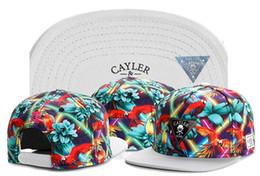 Wholesale Script Snapback - Wholesale-2015 top brand Floral Script Snapback Caps hip hop white flower print cap fashion mens women snap backs hats gorras baseball hat
