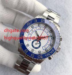 Wholesale Men Yacht - Hot Sale Mens Watch YACHT II 116680 White Dial 44mm Automatic Mechanical Ceramic Bezel Sapphire Glass Original Clasp Master Men Watches