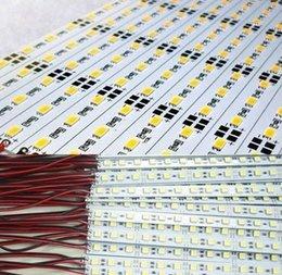2019 aluminiumgehäuse für led 10 X 5050 5630 SMD LED Bar harte starre Lichtleiste 0,5 m 36 LED 12V kühl/Warm weiß RGB Aluminium Alloy Shell Gehäuse CE RoHS günstig aluminiumgehäuse für led