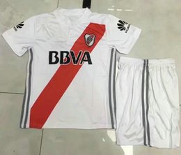 Wholesale Rivers Red - 17 18 kids RIVER PLATE Home soccer Jersey Kits TEO D,ALESSANDRO BALANTA CAVENAGHI VANGIONI 2017 River Plate AWAY red child Football shirts