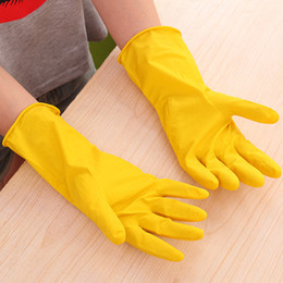 Wholesale Long Cleaning Gloves - Washing Laundry Glove For Dishwashing Housework Rubber Long Gloves Waterproof Solid Color Kitchen Supplies High Quality 0 92rr R