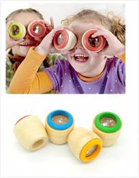 Wholesale Red Developments - Wholesale- hot Wooden Kaleidoscope Cute Mini Montessori educational toys Magical bee eye effect Prism Infant Development Sensory Toys WYQ