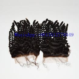 xpression hair weaving Desconto Top Lace Encerramento Venda Quente Cabelo Humano Brasileiro Fechamentos de Rendas Cheias (4 * 4) Onda Do Corpo Onda Profunda Não Transformados frete grátis