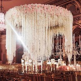 Canada 50 pcs en gros glycine décor de mariage 100 cm 6 couleurs fleurs décoratives artificielles guirlandes pour la fête de mariage Offre