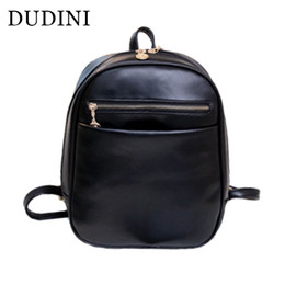 Wholesale Casual Dress Shops - DUDINI Preppy Style Leather Backpacks Hot Sale Women Shopping Clutch Designer Fresh Casual Girls Backpacks Candy Shoulders Bags