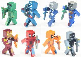 Wholesale Spiderman Toy Building - Action Figure toys 8PCS set Avengers batman superman spiderman captain america ironman Building Blocks Sets in stock