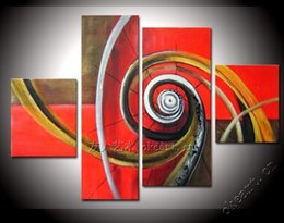 Wholesale Dafen Oil - Frameless hand painted Red romantic dafen oil painting home decoration modern abstract painting