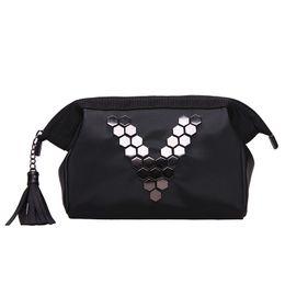 Wholesale Necessaries Makeup - Waterproof Nylon Cosmetic Bags High Quality Stud Makeup Bag Big Tassel Travel Organizer Professional Storage Necessaries Case