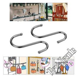 Wholesale Holder Hook Hanger Kitchen - Home Kitchen Accessories Stainless Steel S Shape S-hooks 7.2cm Length Hook Hanger Holder Portable Hanging Hooks 00766