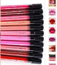 Wholesale Chocolate Drops Wholesale - Waterproof Daily Color liquid Lipstick matte smooth Long Lasting lip stick lipgloss party makeup cosmetics 12colors gift drop shipping