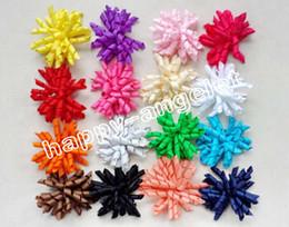 "Wholesale Kids Hair Clip Flower - 200pcs 3.5 "" Children's curly Ribbon hair bows clips flowers corker barrettes korker hair bobbles Side Clip hair tie accessories kids PD007"