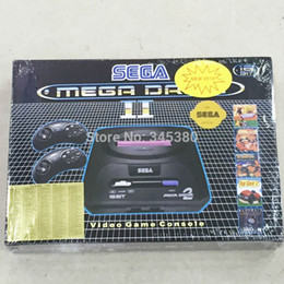 Wholesale Game Cartridges - NEW2016 16bit sega console video game player for MD2 console cartridges built in 5 games with EU power adapter mega drive