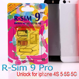 Wholesale Gpp Ios Verizon - Updated R-SIM 9 RSIM 9 Unlock ALL iPhone 5S 5C 5G 4S RSIM9 pro IOS 7 GPP IOS7 7.0.1 7.0.2 7.1 RSIM 9 PRO Docomo AU Sprint Verizon