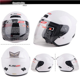 Wholesale Motorcycle Open Face Dot Helmet - DOT Ls2 OF508 Jet Helmets Motorcycle Open Face Helmet Man&Female Urban Moto Casco
