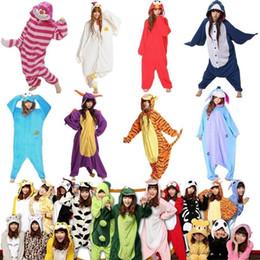 Wholesale Dog Onesie - Wholesale-Winter Unisex Adult Pajamas Cosplay Costume Animal Onesie Sleepwear Cat Tiger Panda Polar Winnie Bear Dog Unicorn