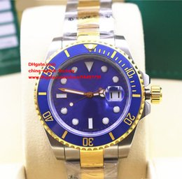 Wholesale Two Tone Luxury Watches - Luxury AAA+ Quality Wristwatches 40mm Ceramic Bezel 116613 116613LB 116613LN Two Tone Gold Asia 2813 Movement Automatic Mens Watch Watches