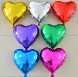 2019 forma de corazón globos de aluminio 50 unids / lote ventas al por mayor 10 pulgadas en forma de corazón globos de papel de aluminio cumpleaños del banquete de boda decoración globo forma de corazón globos de aluminio baratos