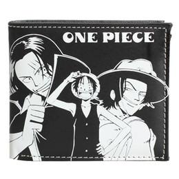 Wholesale Manga Luffy - Wholesale-NEW Monkey D Luffy Wallet Purse One Piece Anime Manga Synthetic Leather