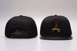 Wholesale Baseball Alumni - Wholesale Adjustable Bone tha Alumni Snapback Caps Gold A Hip Hop Sport Hats Baseball Snap back Caps Free Shipping