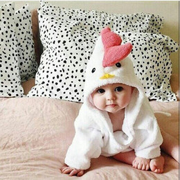 Wholesale Embroider Robe - baby robes boys and girls autumn winter children lovely cartoon fleece bathrobe sleepwear home wear pajamas clothing