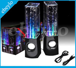 Wholesale Dancing Water Speaker Active - Dancing Water Speaker Active Portable Mini USB LED Light Speaker For iphone ipad PC MP3 MP4 PSP DHL Free LY