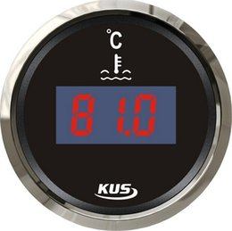 Wholesale Water Temp Thermometers - KUS Digital Water Thermometer Water Temperature Gauge 12V 24V For Boat Automobile With Sensor Black Color