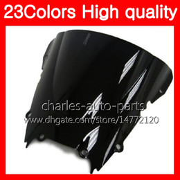 Wholesale Yamaha R6 Motorcycle - 23Colors Motorcycle Windscreen For YAMAHA YZFR6 98 99 00 01 02 YZF-R6 YZF R6 1998 1999 2000 2001 2002 Chrome Black Clear Smoke Windshield