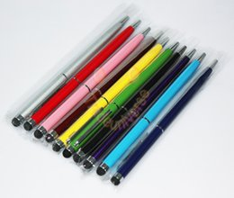Wholesale Stylus Capacity Touch Screen Pen - factory sale 2 in 1 touch pen capacity stylus pen for Capacity screen colorful 2 in 1 touch stylus pen DHL free shipping
