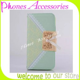 Wholesale Lovely Iphone Wallet Cases - iPhone 6 Wallet Cover Flip PU Leather Cases for iPhone 6 4.7 inch Covers Lovely lace Cell Phone Case with Card Holder