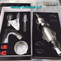 coletor de néctar seco Desconto Néctar Kit Coletor 2.0 Com Palito De Boca De Mel Caule Titanium Prego Quartz Prego Destacável Néctar Colecionadores Kit V2 Para Erva Seca De Cera