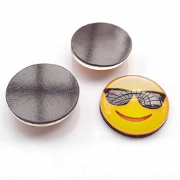 Wholesale Smiley Faces Stickers - emoji Smiley face Magnetic glass Fridge Sticker Christmas accessories Creative cartoon crafts Random delivery wholesale 2017 Hot Lovely