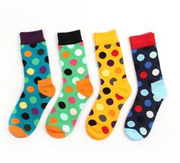 Wholesale Black White Dot Socks - Happy Socks for Men Women Unisex Cotton Long brand High Quality Calcetines Hombre Knee High Socks