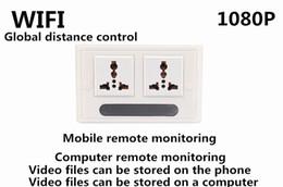 Wholesale Spy Wall Socket - Newest Spy Socket camera 110-240V wall DVR 1080P P2P IP WIFI Hidden Recorder EU US UK socket Spy camera free shipping