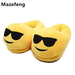 Wholesale Cartoon Slippers Men - New 2017 Men&Women Emoji Slippers Winter Warm Cotton Plush Slipper Emoji Shoes Indoor Shoes Soft Cartoon Slipper Unisex 015-7