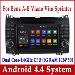 Wholesale Mercedes Navigation Units - Android 4.4 Car DVD GPS Navigation for Mercedes Benz A Calss W169 B W245 Viano Vito Spinter w  Radio BT USB SD DVR 3G WiFi Stereo Head Unit