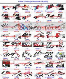 Wholesale Type S Badge - 200pcs Metal Red Black TYPE S TYPES M3 MINI Rline Grill 3D ST Black Badges Emblem Hood Grill Mesh DHL free