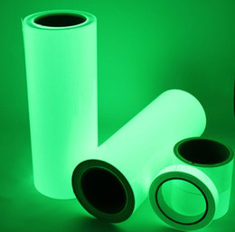 Wholesale Side Glow - Premium Luminous GLOW IN THE DARK Vinyl Tape Sheet Reflective strips green Shinning tape 50mm(W)*10m(L)Free shipping