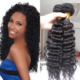 2019 coiffures de tissage bouclé péruvien Hotsale brésilienne profonde cheveux vierges bouclés, vague de corps brésilienne non transformée, brésilienne lâche ondulée, cheveux brésiliens raides faisceaux d'armure