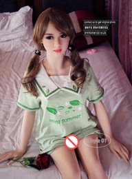 Wholesale New Real Love Dolls - health new real silicone sex dolls 153cm tall skeleton adult japanese love toy vagina lifelike pussy realistic sexy doll for men big breast