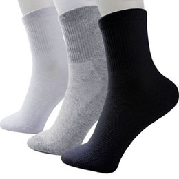 Wholesale Cotton Quality Wholesale - Hot Sale Fashion Summer Style NEW Men Guy Cosy mix Cotton Sport Socks Black White Gray Colors High Quality Popular Breathable mesh design