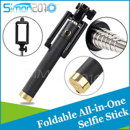 Wholesale Timer For Wireless - 3rd Generation selfie stick with bluetooth function Locust Monopods Pocket Protable Timer Extendable Handheld Portrait For Iphone samsung