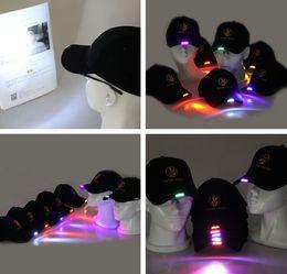 Wholesale Grils Ball - LED Light Hat LED Flash Hats Baseball Caps Light 7 colors LED Hats Boys Grils Cap Fashion Luminous Hat Ball Caps Hip-hop