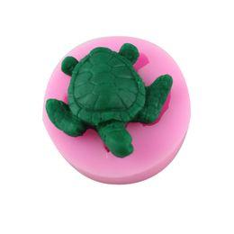 Wholesale Soap Mold Sizes - 3D Small Size Sea turtle Shape Hand Shape Silicone Cake Chocolate Mold Cartoon Handmade Soap Mold Cake Decoration tools CT053